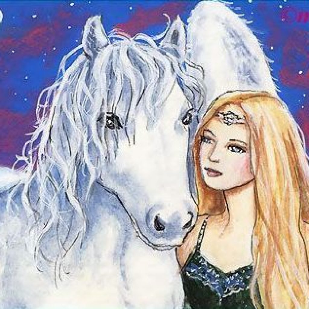 White Pegasus & Lady Elf     © Marty Helgeson